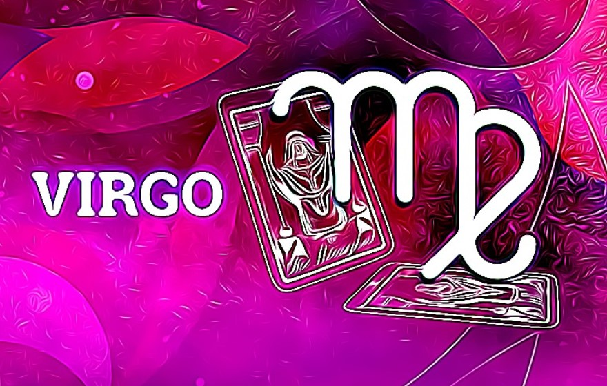 carta y simbolo del signo zodiacal virgo